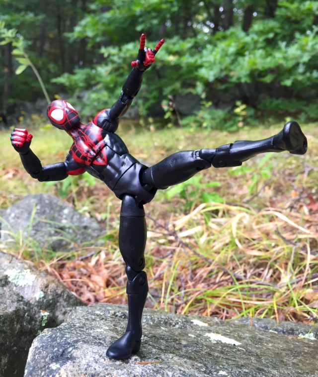 Articulation on Spider-Man Legends Miles Morales Six Inch Figure