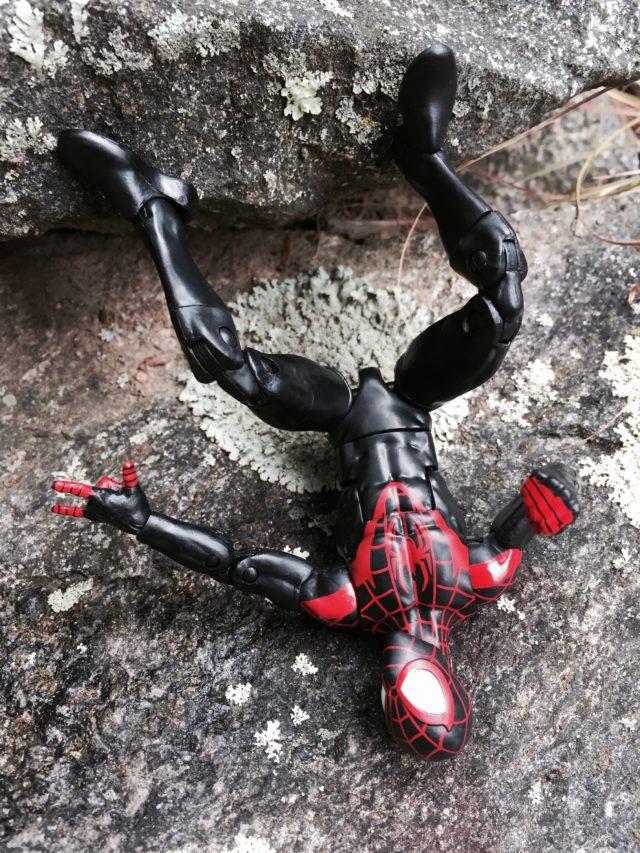 Marvel Legends 2016 Miles Morales Spider-Man Figure Handing Upside-Down