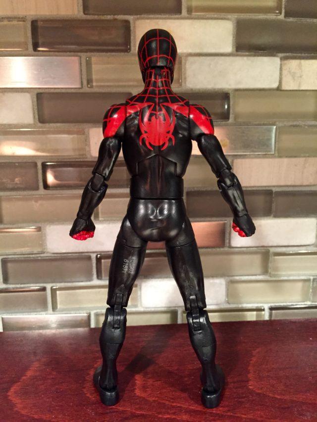 Back of Marvel Legends Miles Morales Ultimate Spider-Man Figure