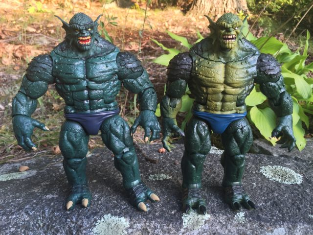 Marvel Legends Abomination Build-A-Figure vs. SDCC The Raft Figure
