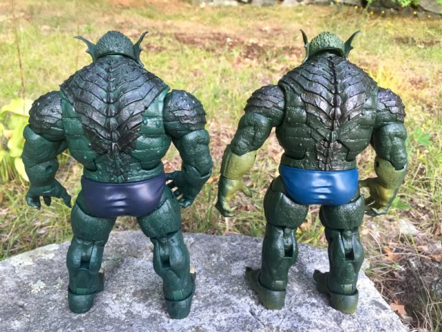 Back of Marvel Legends Abomination Figure Comparison