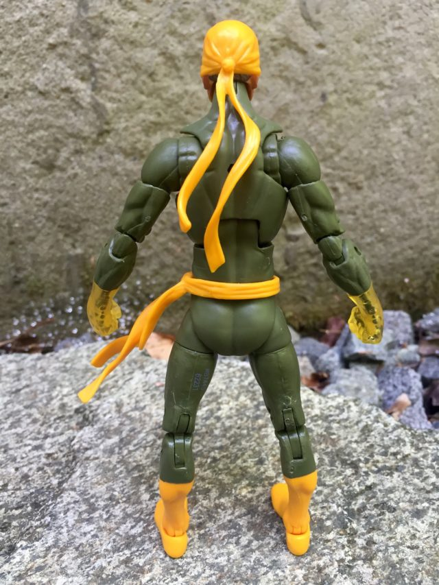 Back of Marvel Legends Iron Fist 2016 Figure