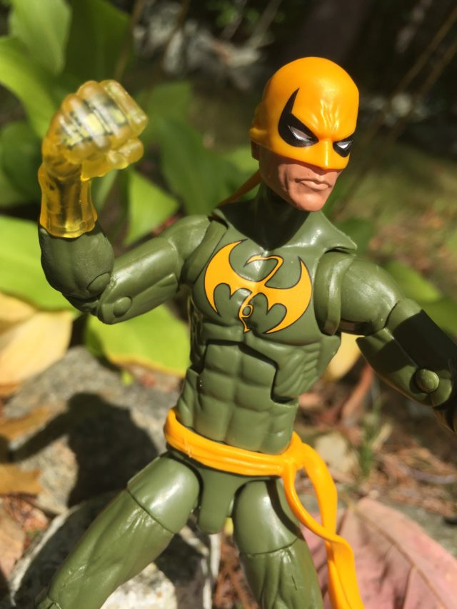 Close-Up of Marvel Legends Iron Fist Glowing Fist
