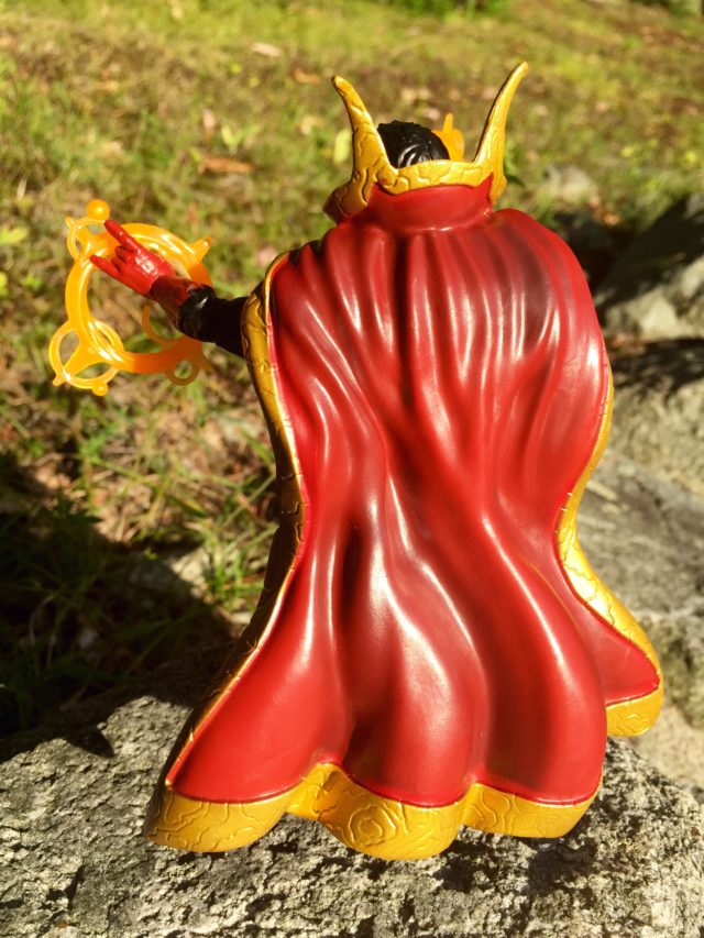 Back of 2016 Marvel Legends Dr Strange Figure Cloak of Levitation
