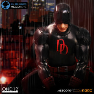 NYCC 2016 Exclusive Mezco Black Daredevil ONE 12 Collective Figure