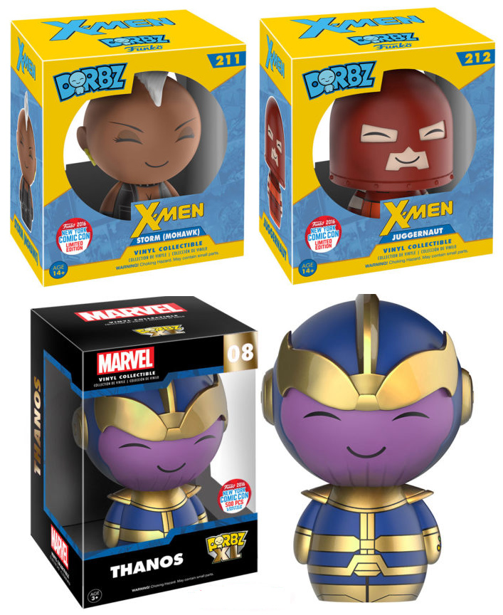Nycc 2016 Funko Dorbz X Men Amp Thanos Exclusives Marvel