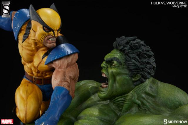Sideshow Exclusive Original Wolverine vs Hulk Maquette