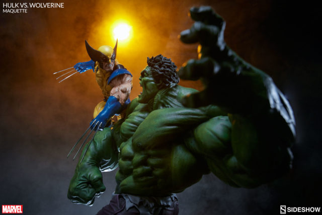Wolverine vs Hulk Statue by Sideshow Collectibles
