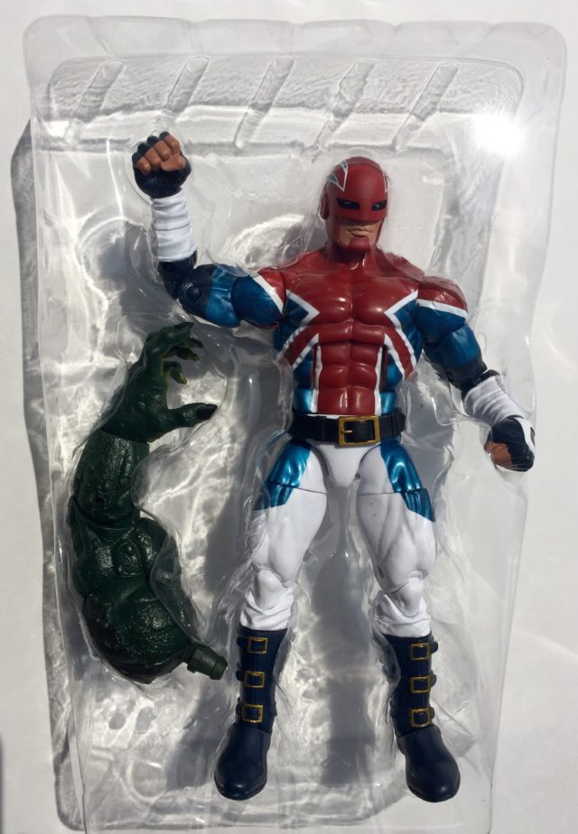 Captain Britain Marvel Legends Figure in Packaging
