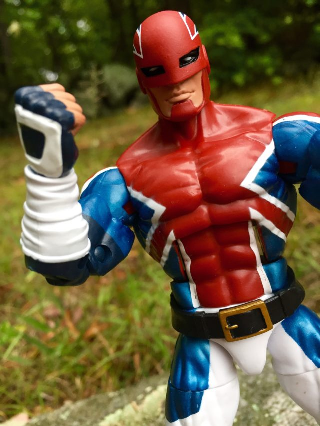 Close-Up of Captain Britain Legends Six Inch Figure