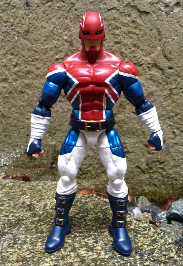 "Front of Captain Britain Hasbro Marvel Legends 6"" Action Figure"