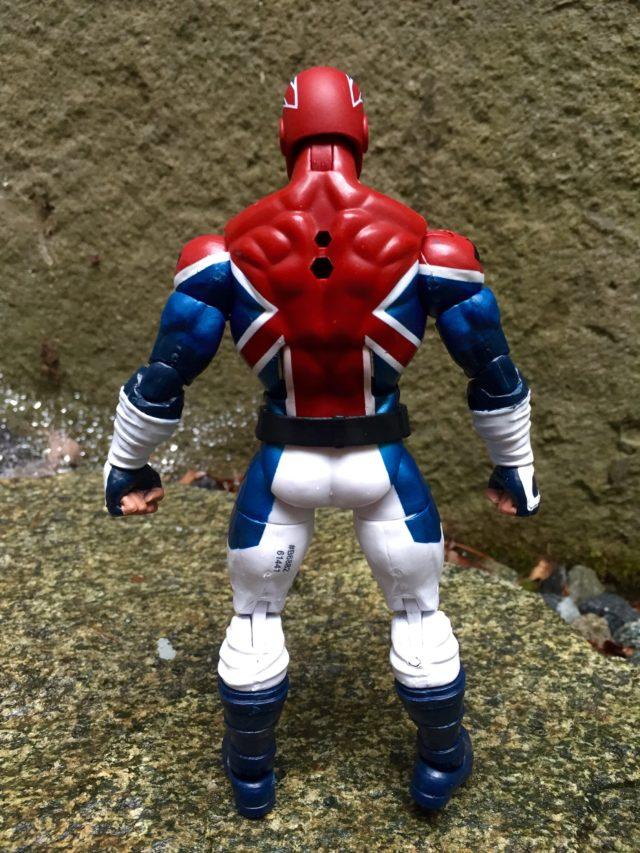 "Back of Hasbro 6"" Marvel Legends Captain Britain Action Figure"
