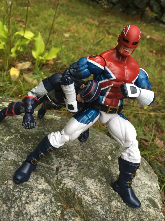 Captain Britain Action Figure Puts Headlock on Captain America