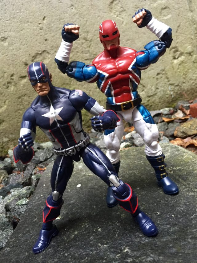 Marvel Legends Captain America Wave 3 Captain Britain Comparison Photo