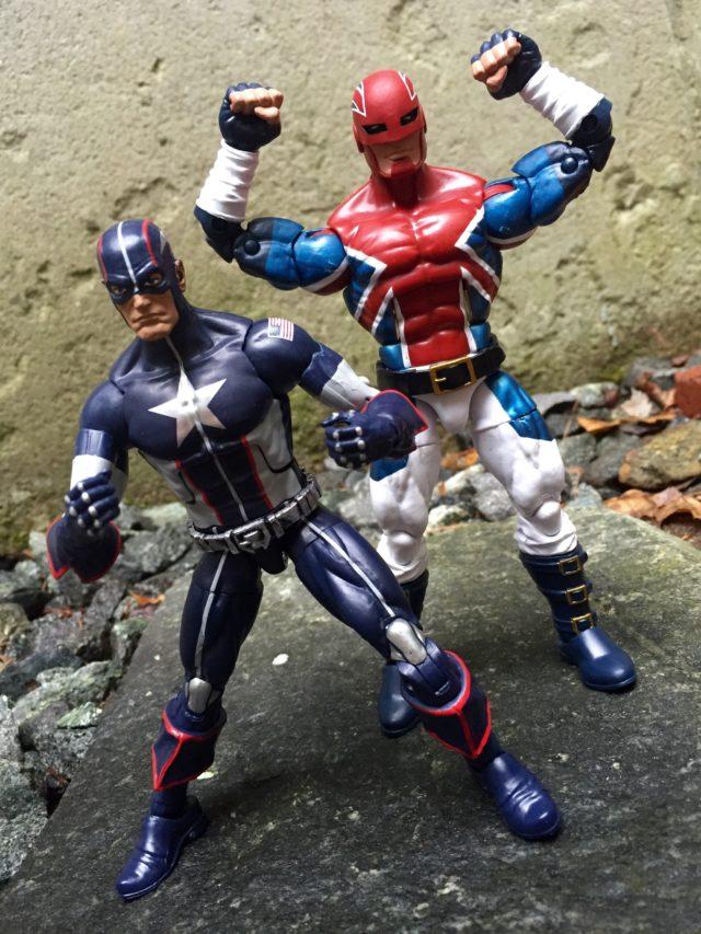 Marvel Legends Captain America Wave 3 Captain Britain Comparison Photo