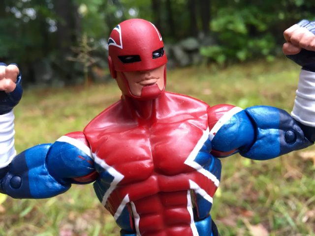 Marvel Legends Captain Britain Paint Flaws