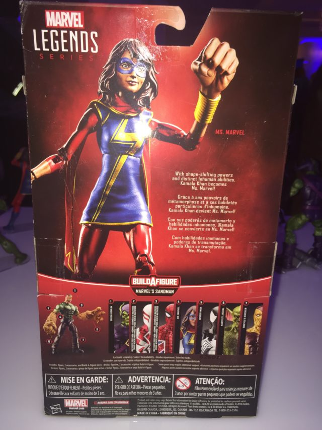NYCC 2017 Ms. Marvel Marvel Legends Figure Cardback
