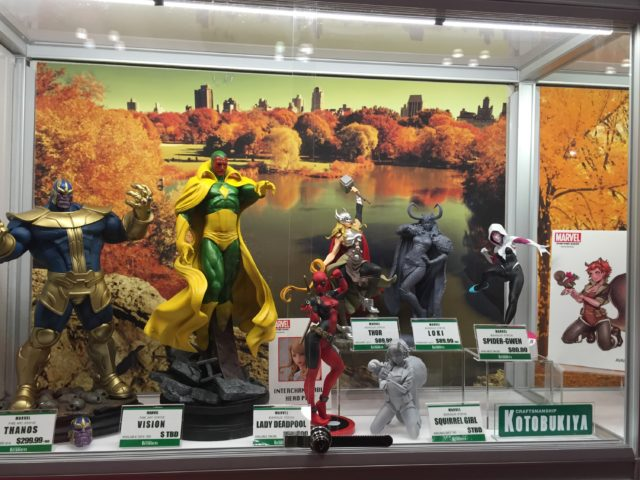 NYCC 2016 Kotobukiya Booth Photos Marvel Statues