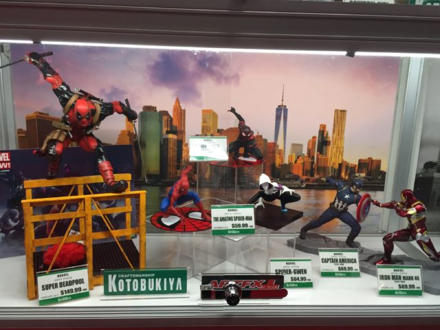 NYCC 2016 Kotobukiya Marvel Statues Display