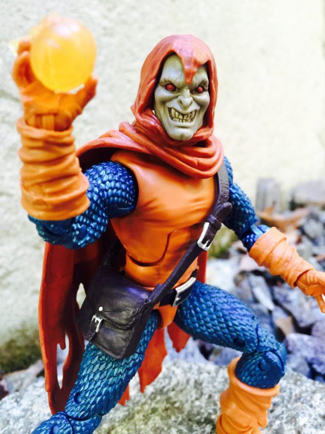 Close-Up of Marvel Legends Spider-Man Hobgoblin Head