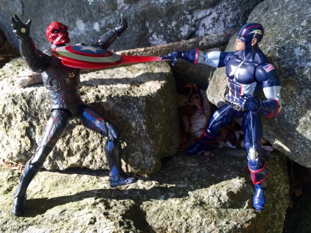"Hasbro 6"" Marvel Legends Captain America Secret War vs Iron Skull"