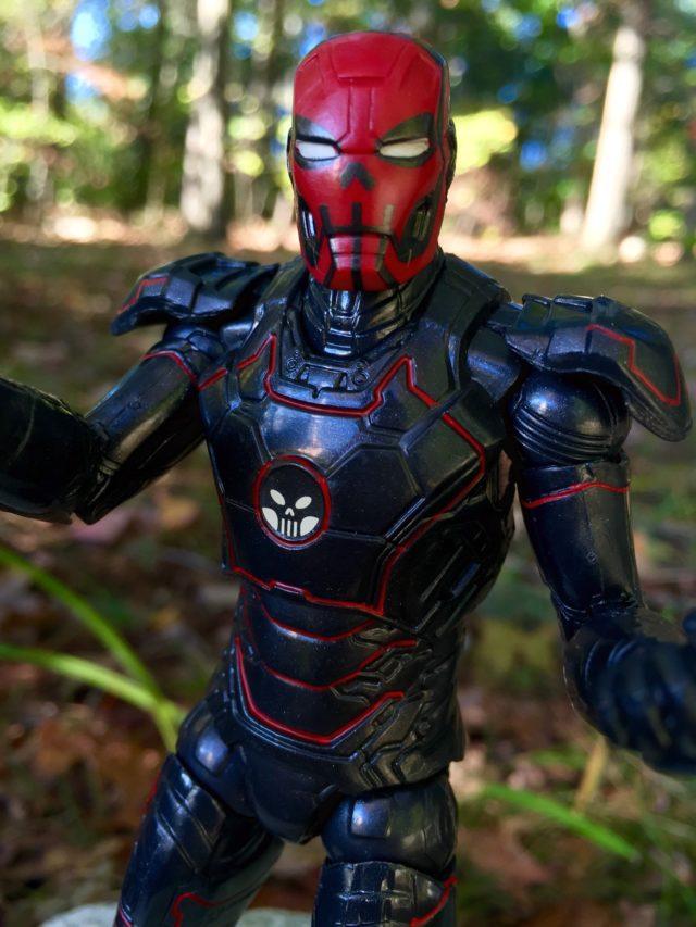 Close-Up of Hasbro Marvel Legends Iron Skull Helmet
