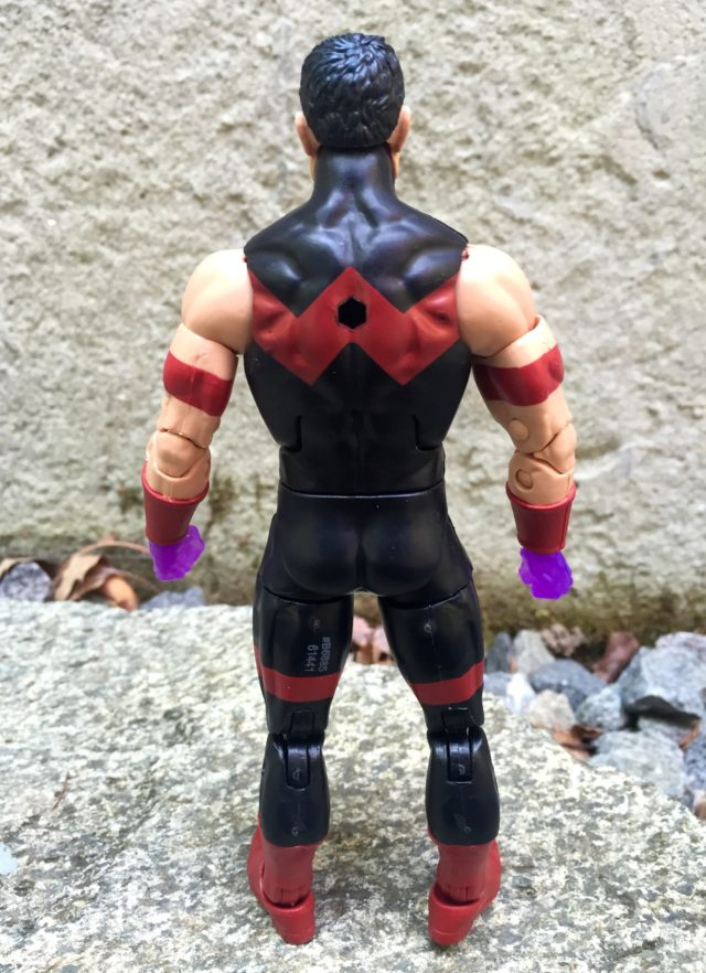 Back of Marvel Legends 2016 Wonder Man Figure