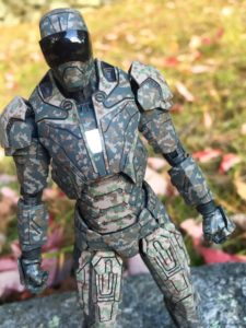 Light-Up Feature on Iron Man Mark 23 Shades Die-Cast Figure