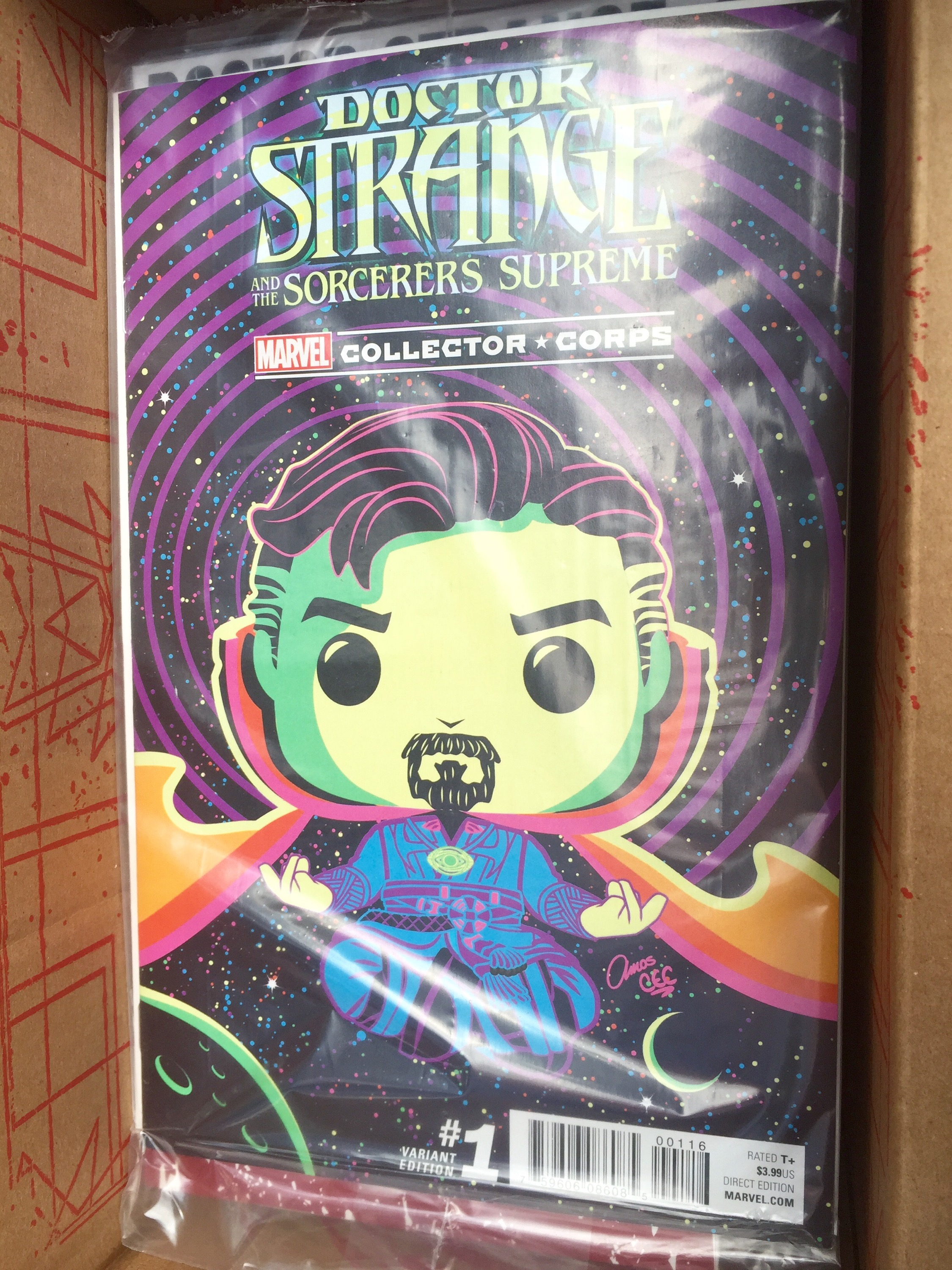 DOCTOR STRANGE AND THE SORCERERS SUPREME COMIC #1 MARVEL COLLECTOR CORPS FUNKO