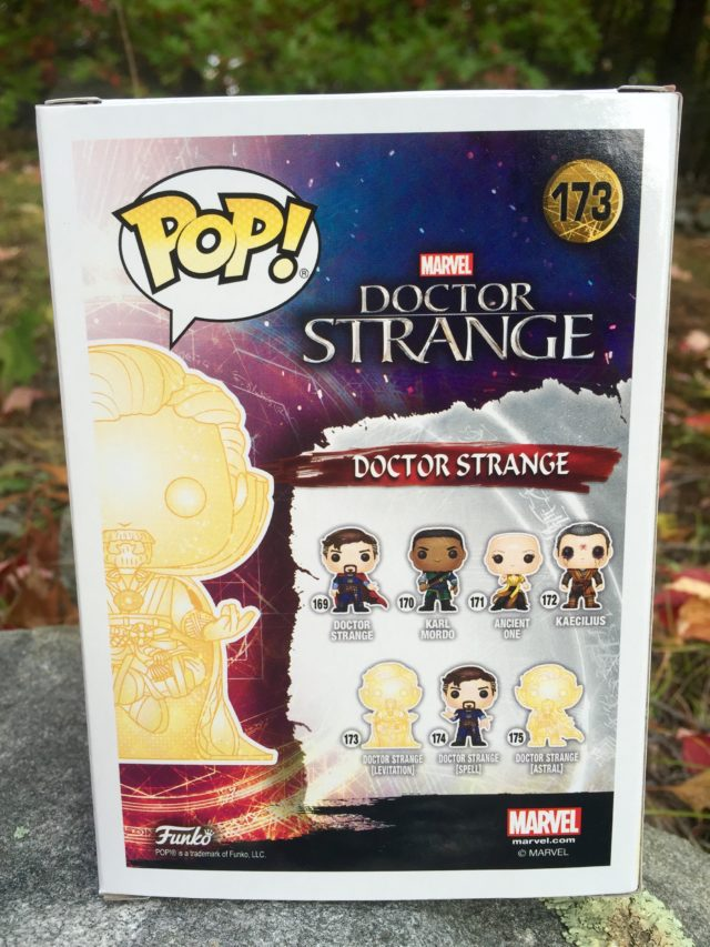 Back of Astral Doctor Strange Levitating POP Vinyl Box