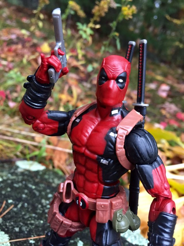 Hasbro Marvel Legends 6 Inch Deadpool Figure Head Close-Up