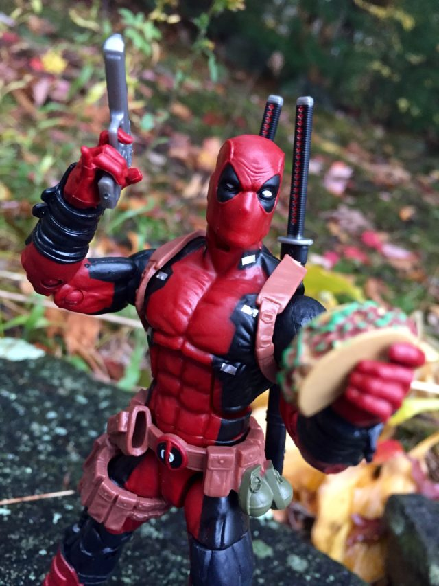 Deadpool Marvel Legends Figure Holding Taco