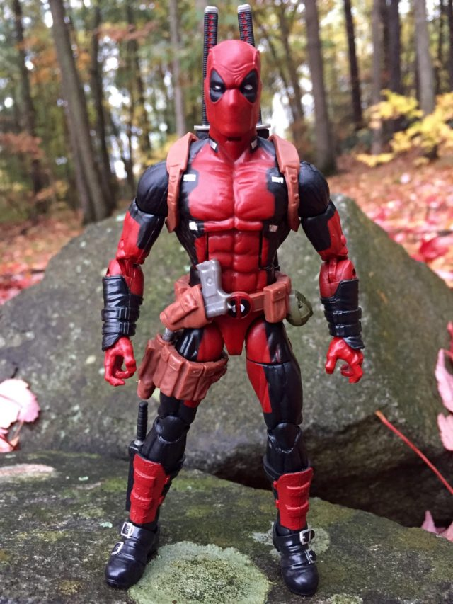 Front of Marvel Legends Deadpool Action Figure