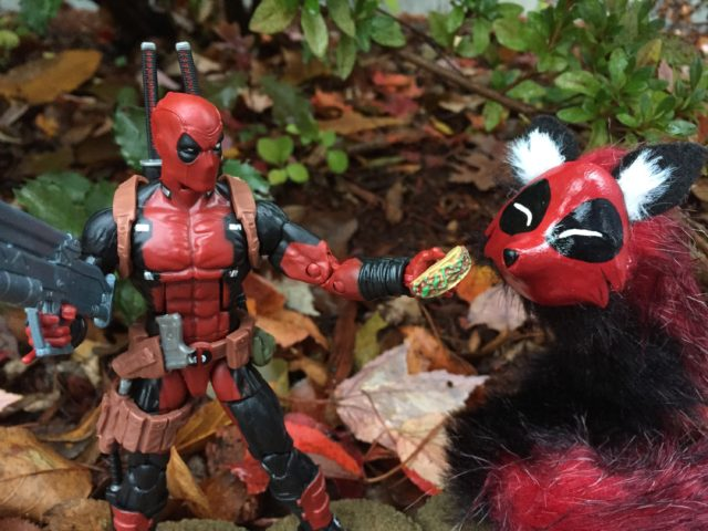 Marvel Legends Deadpool Offering Taco to CreatureSmith Deadpool Fox Spirit