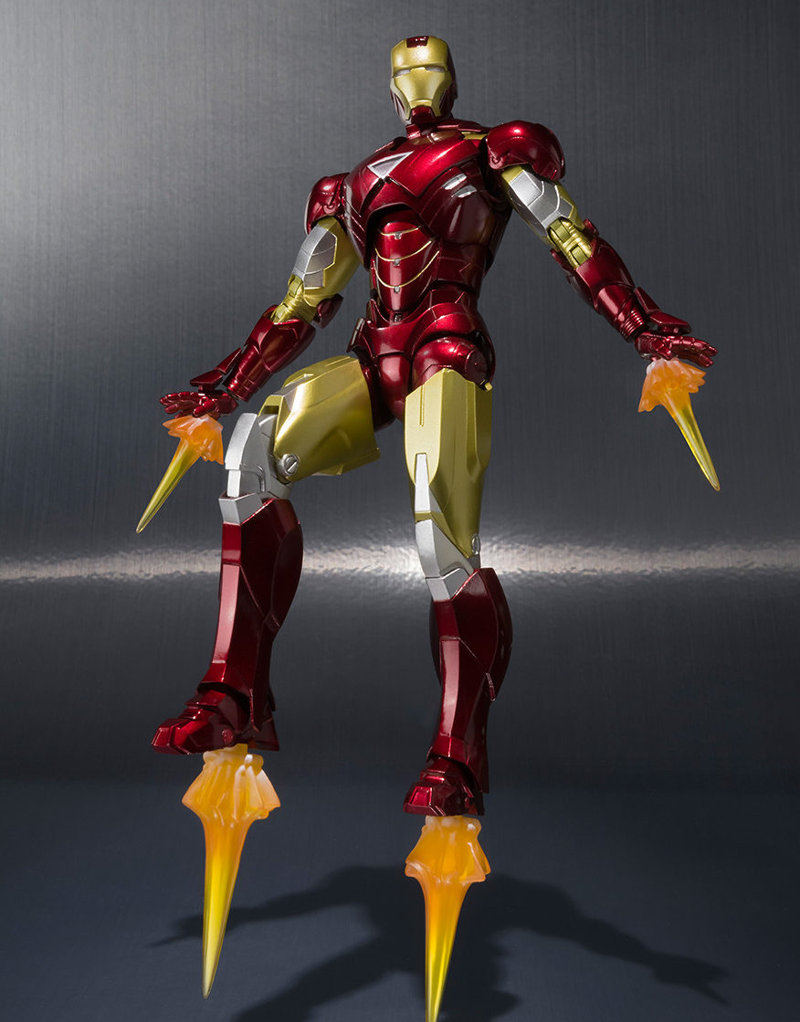sh figuarts iron man mark 6 figure amp hall of armor in the