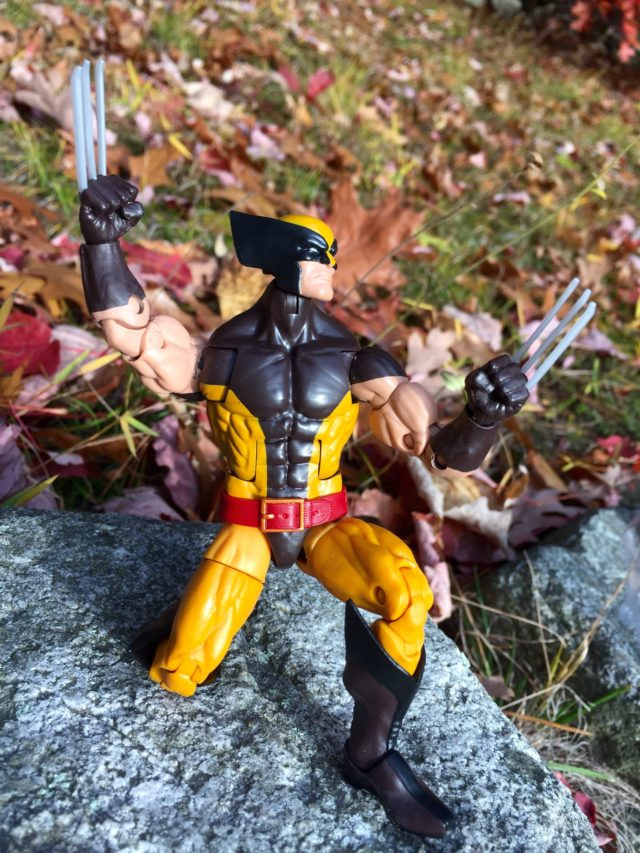 "Wolverine X-Men Marvel Legends Hasbro 6"" Figure Crouching Pose"