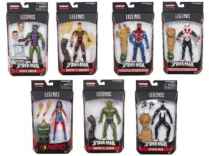 Spider-Man Marvel Legends Sandman Series Figures Packaged