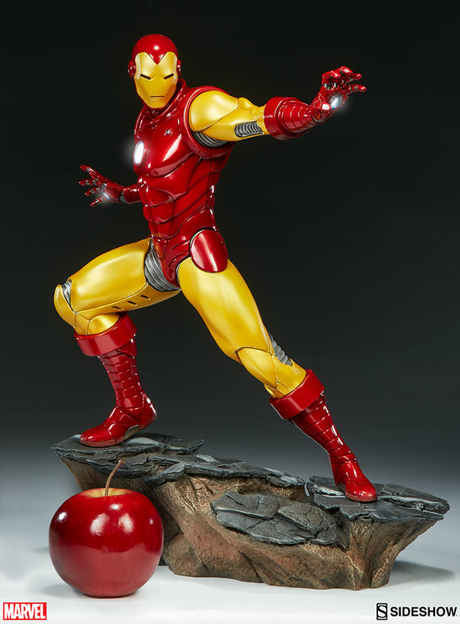 sideshow exclusive classic iron man statue up for order. Black Bedroom Furniture Sets. Home Design Ideas
