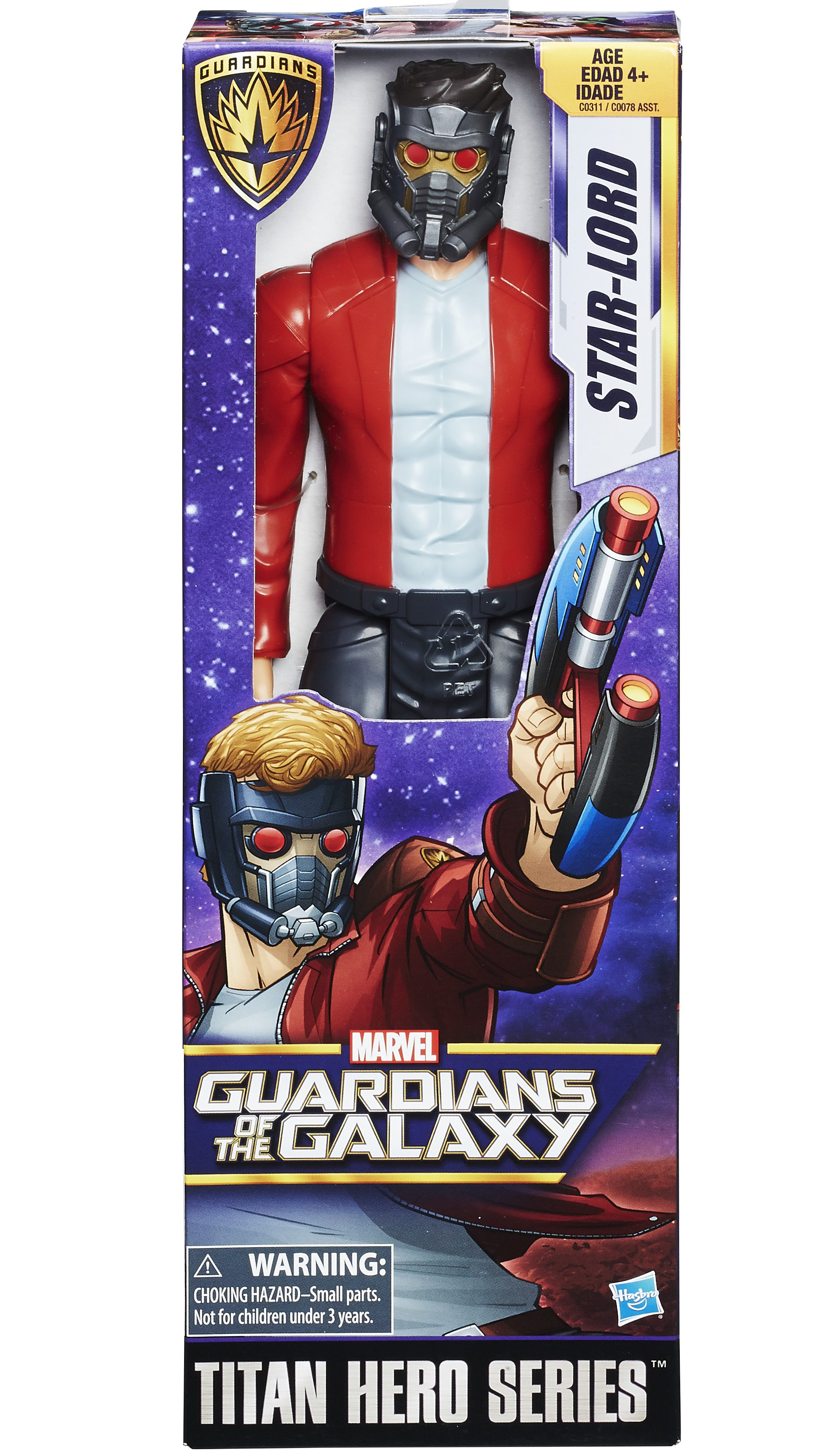 Marvel Titan Hero Series STAR-LORD W//Weapons 12in Action Figure ~ Guardians