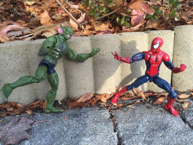 Spider-Man Legends Jackal Six Inch Figure vs Spidey