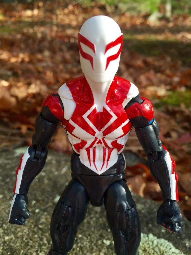 "Close-Up of Marvel Legends 2017 Spider-Man 2099 6"" Figure Paint Apps"