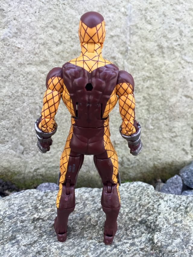 Back of Marvel Legends Shocker Action Figure