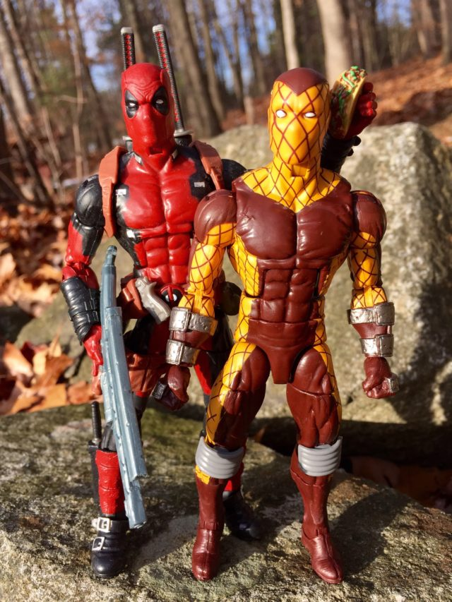 Marvel Legends Deadpool and Shocker Comparison Photo