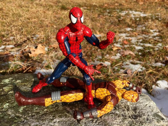 Marvel Legends Spider-Man Defeats Marvel's Shocker