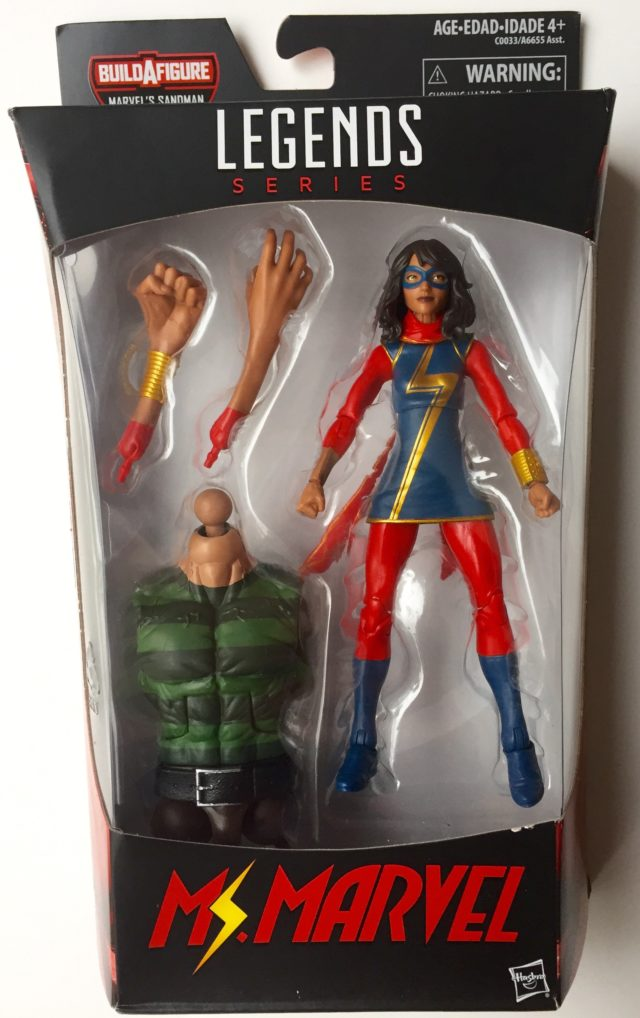 2017 Spider-Man Legends Ms. Marvel Figure Packaged