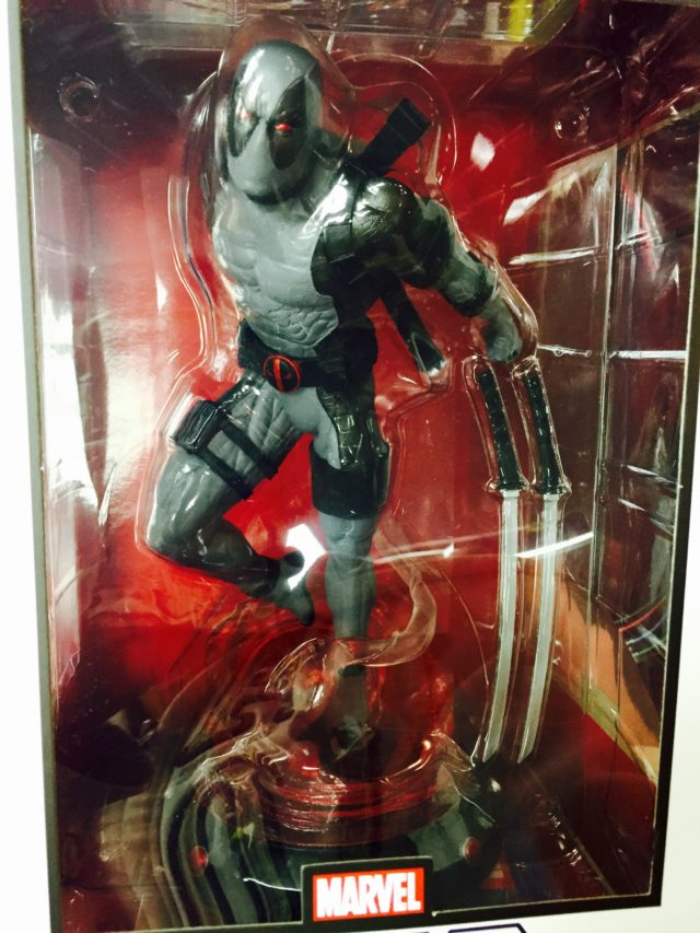 Close-Up of Diamond Select Toys Gamestop Deadpool X-Force PVC Statue