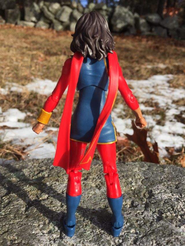 Back of Marvel Legends Spider-Man 2017 Wave 1 Ms Marvel Figure Kamala