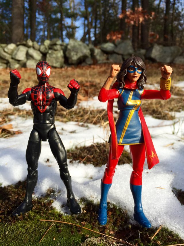 Marvel Legends Miles Morales and Kamala Khan Action Figures