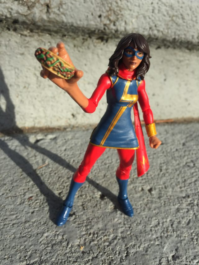 Marvel Legends 2017 Ms. Marvel Figure Holding Taco