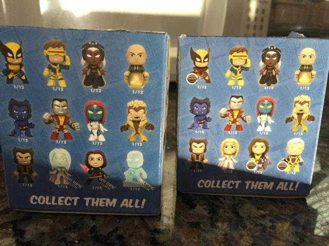 Gamestop & Hot Topic X-Men Funko Mystery Minis Boxes